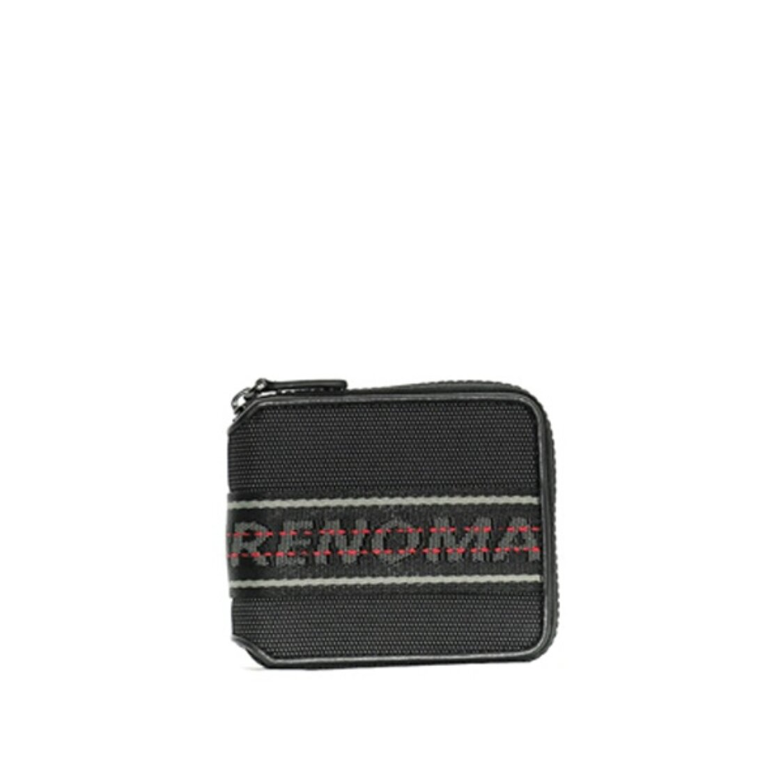 Renoma Mitchell Zip Centre Flap Wallet WCoin Black