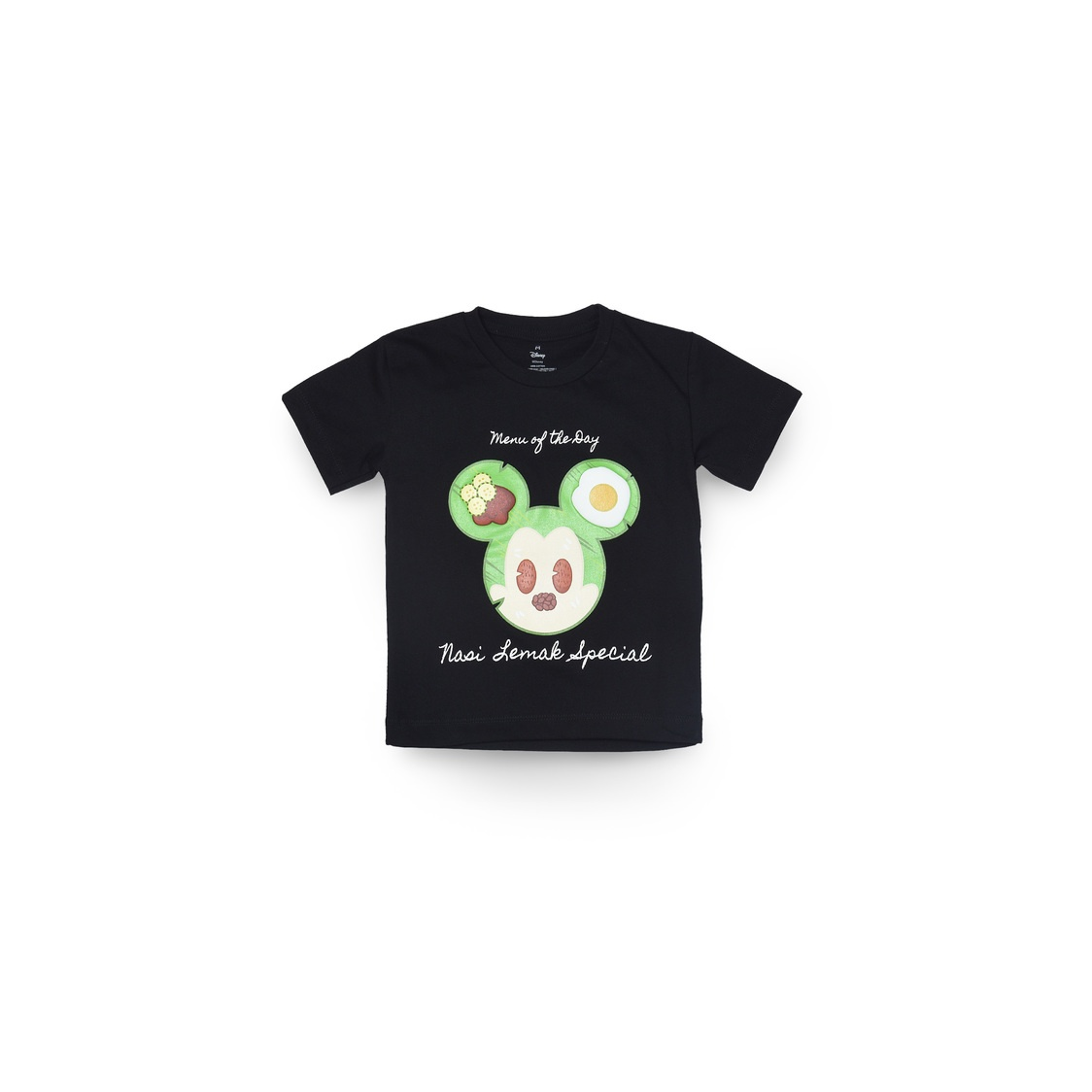 Mickey Nasi Lemak T-Shirt Black - Kids