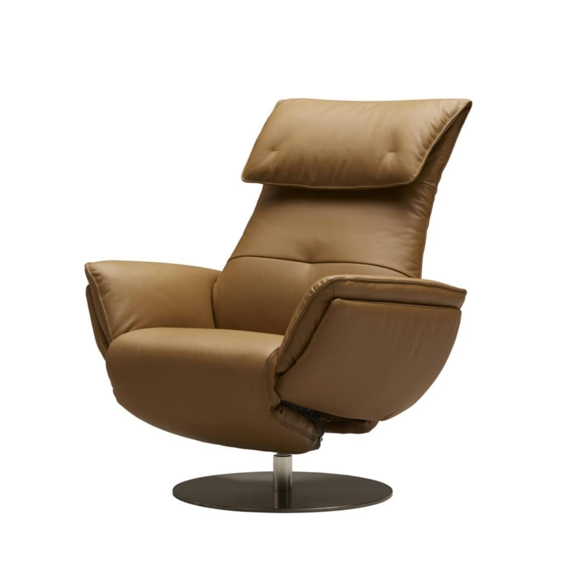 Wolke Chair - Full Leather L665L Camel