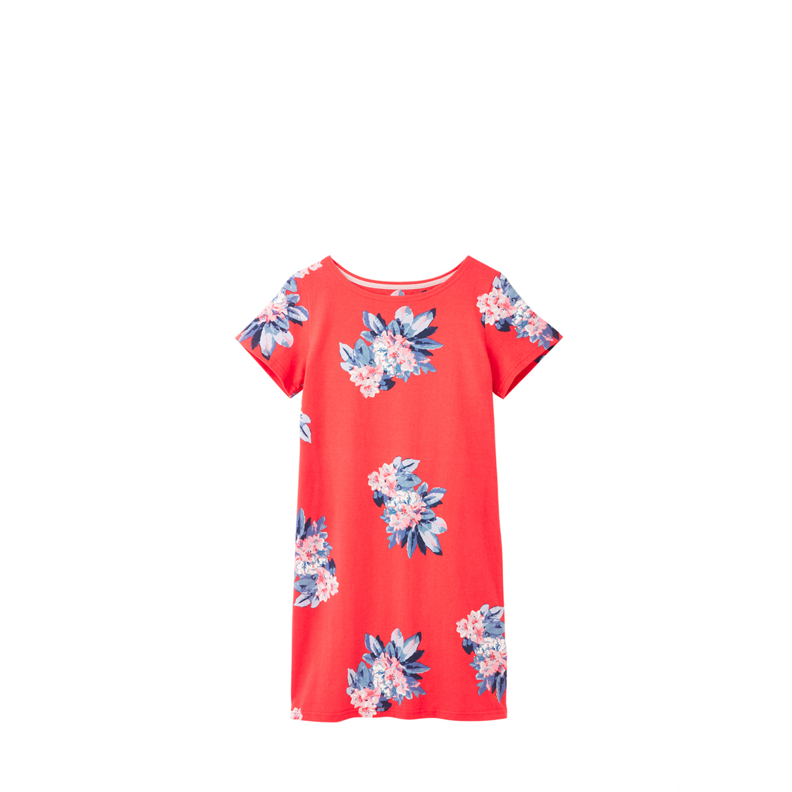 Tom Joule Riviera Short Sleeve Jersey Dress Floral Red