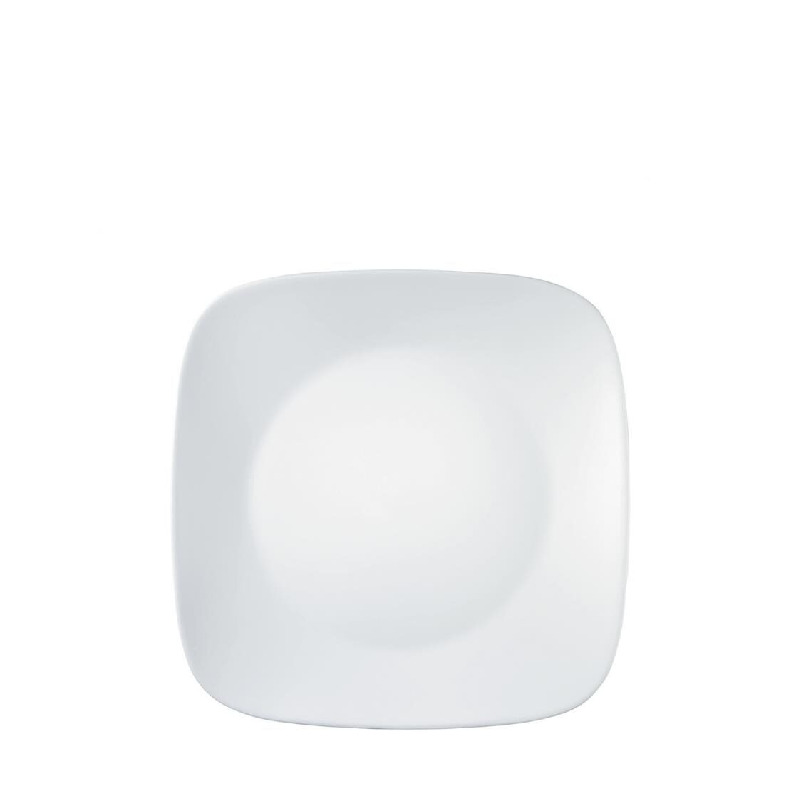 Square Round Dinner Plate Winter Frost White