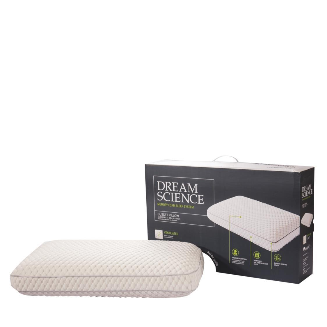 Dream Science Ventilated Memory Foam Gusset Pillow