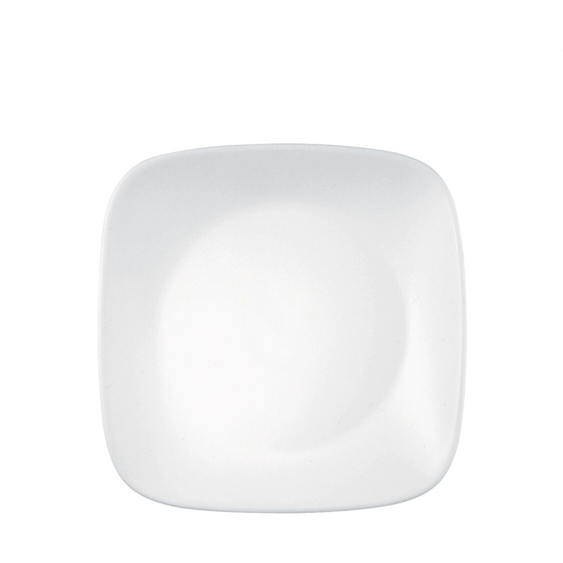Square Round Bread  Butter Plate Winter Frost White
