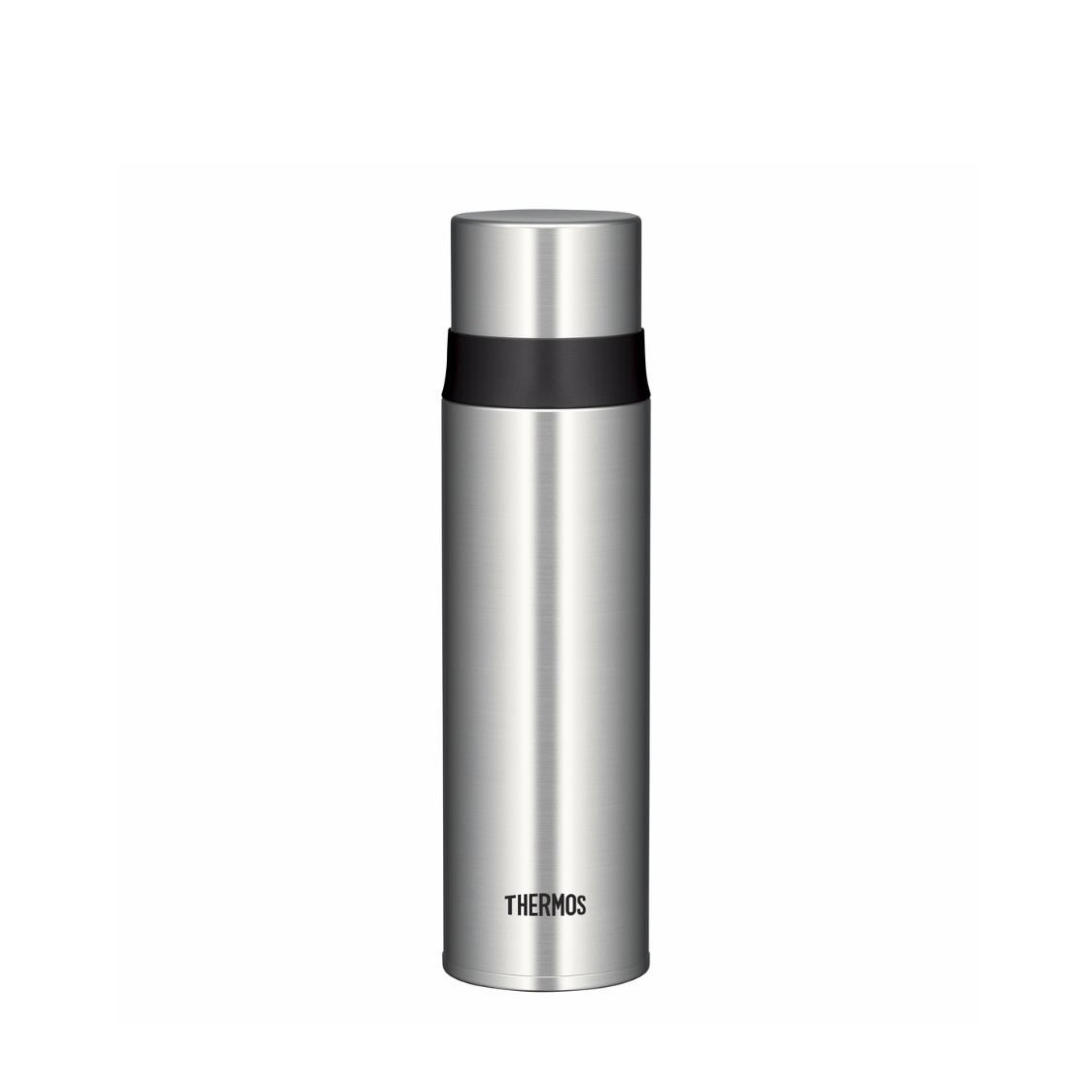 Stainless Steel Bottle with Stopper Clear Stainless 500ml