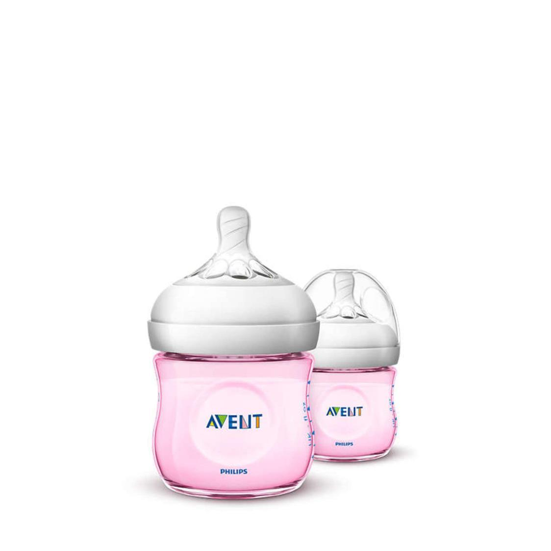 Pp Pink Natural Bottle Twin Pack