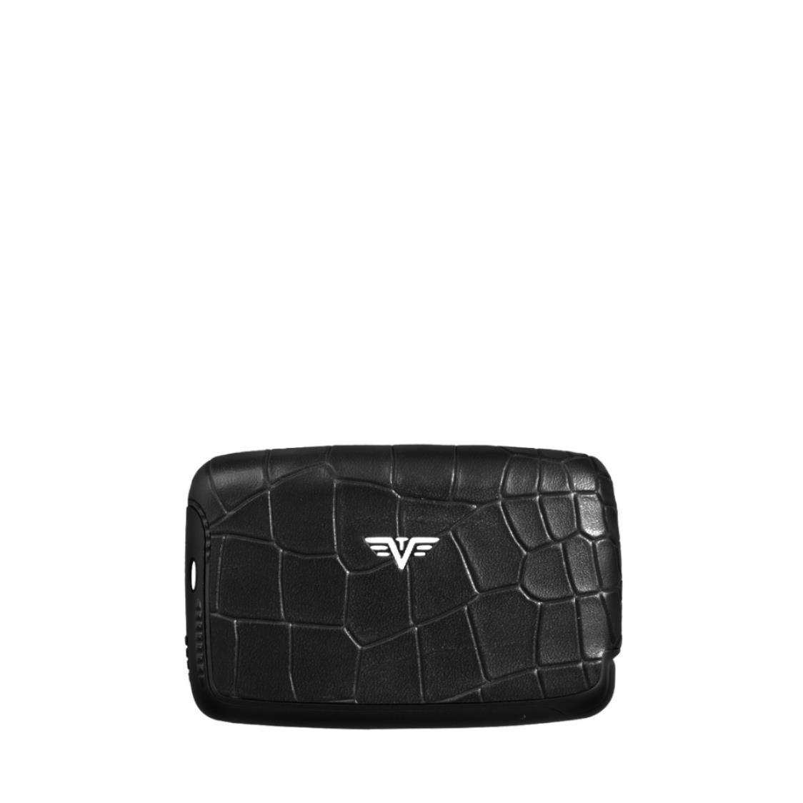 Card Case Nappa Croco Black Tassel