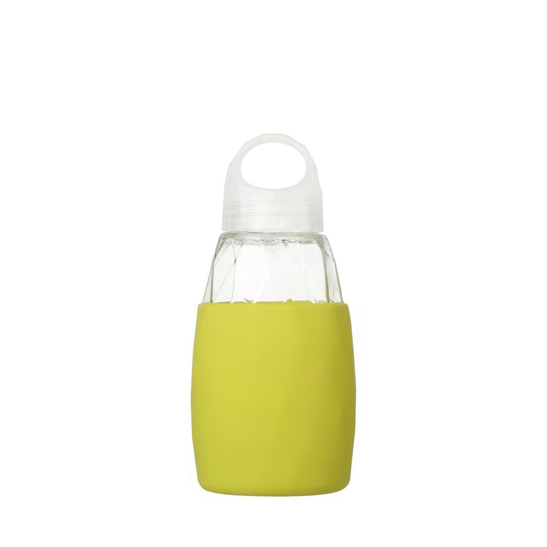 Prism Glass Water Bottle Yellow 350ml
