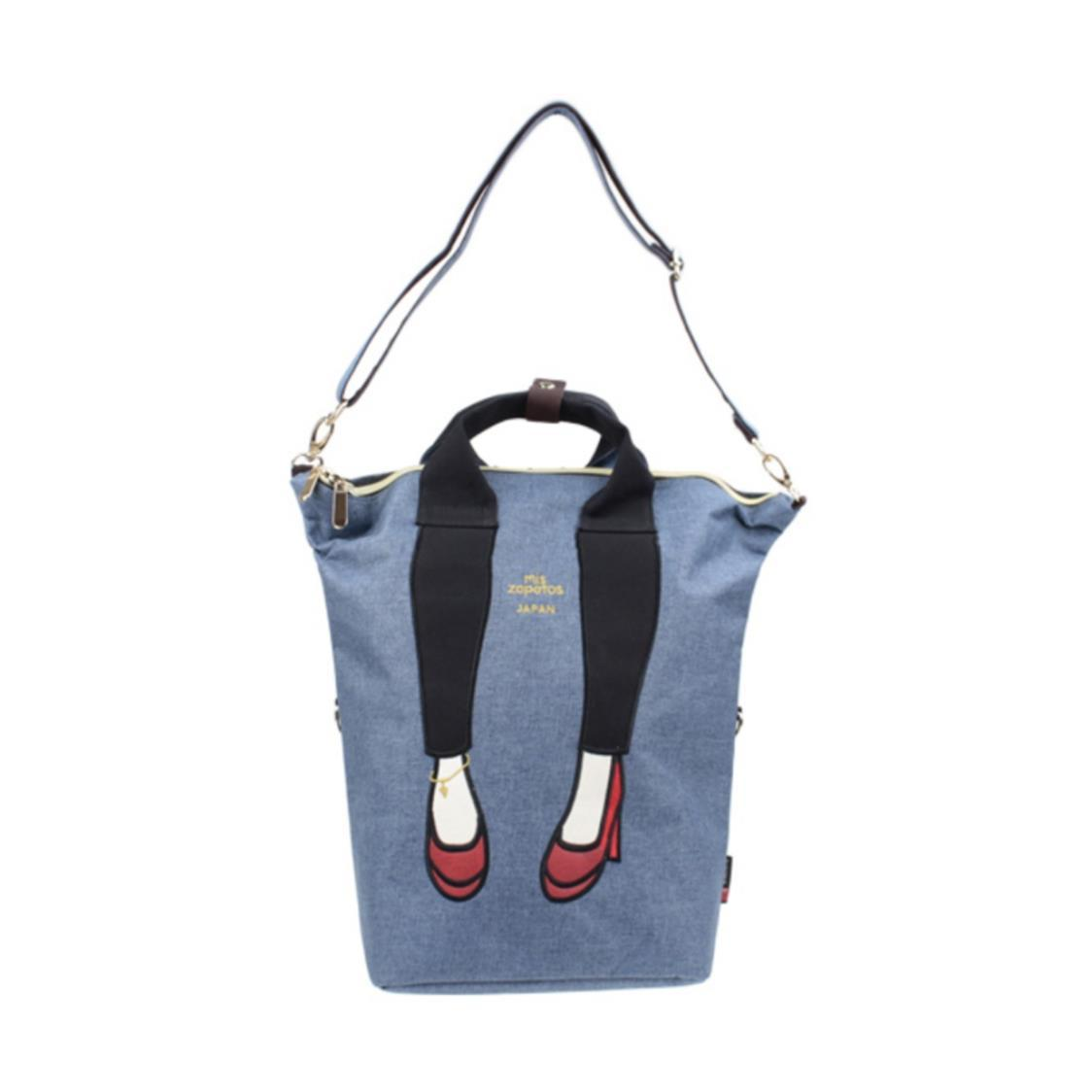 3-Way Jeans with High Heels Backpack Exclusive In Singapore Navy