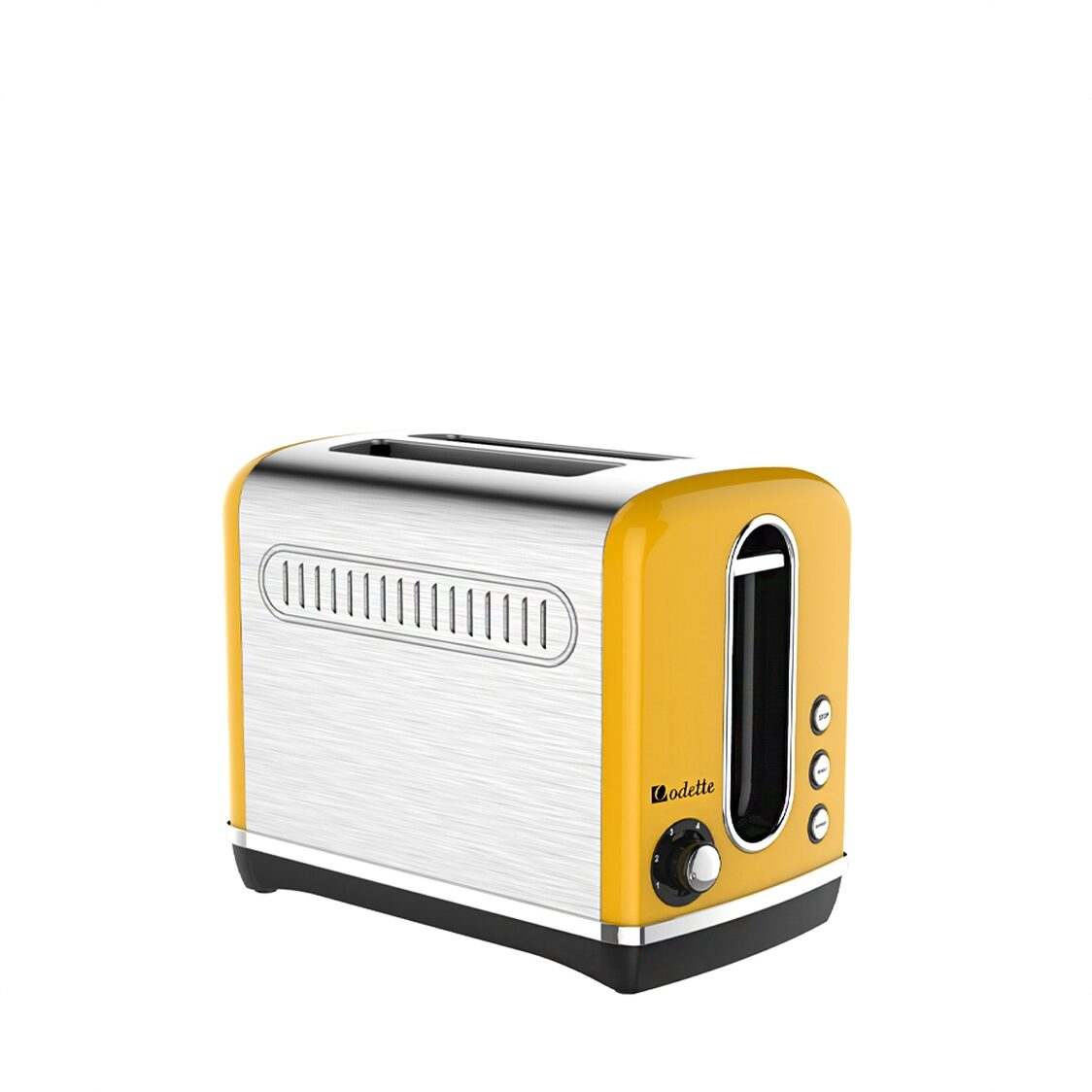 2 Slice Retro Design Toaster Yellow