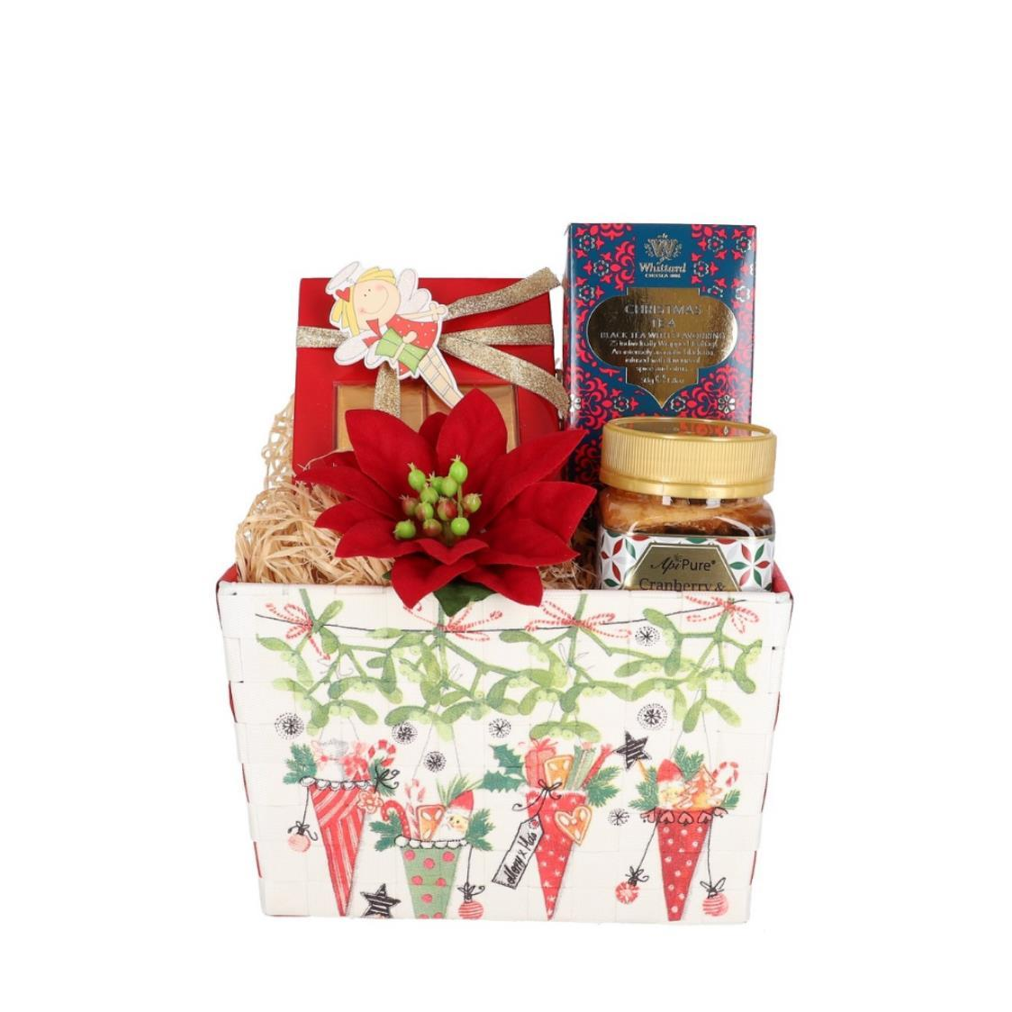 Christmas Tea 25 Teabags Cranberry Raw Honey 250g  Mopec Chocolate Hamper