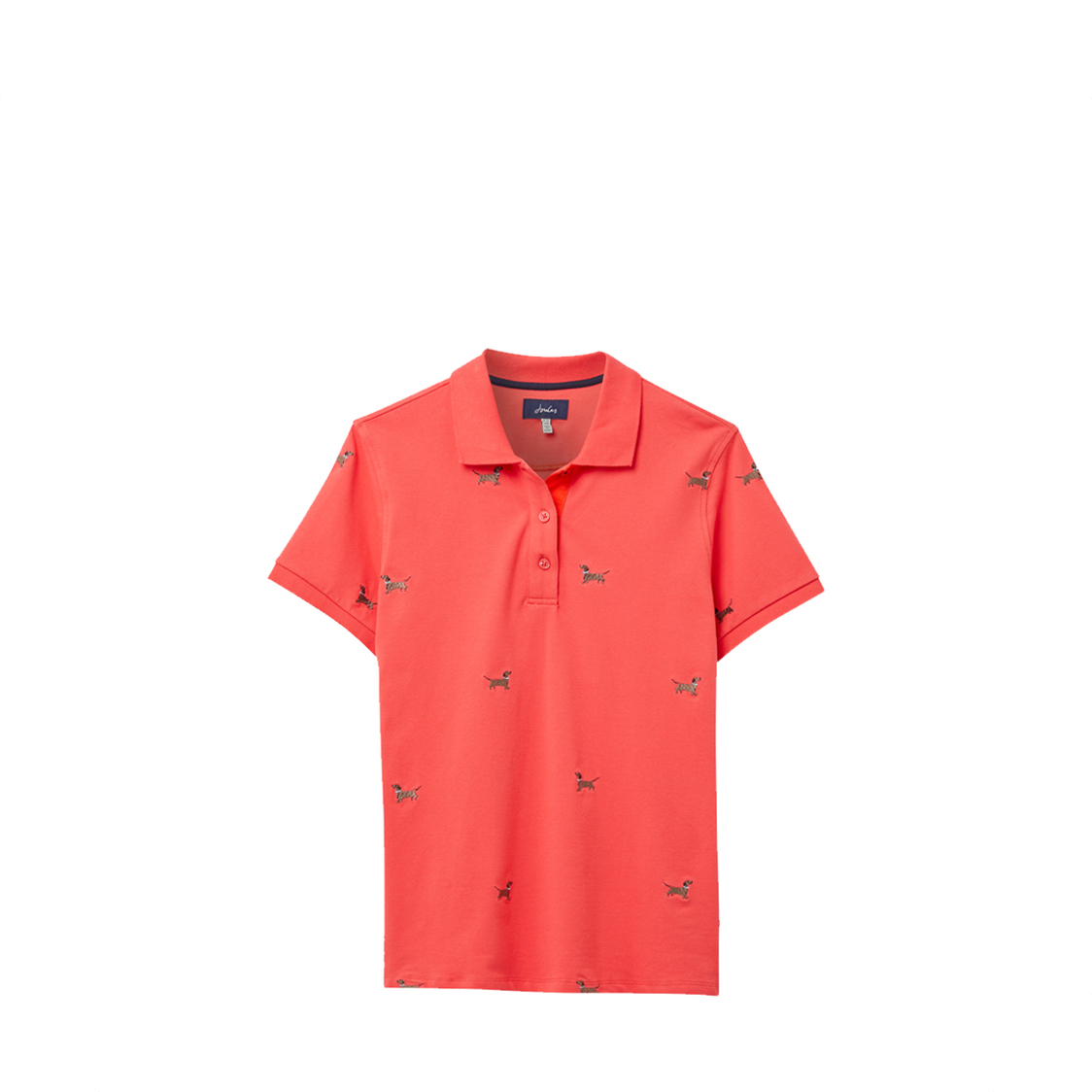 Tom Joule Pippa Printed Polo Shirt Red Dog