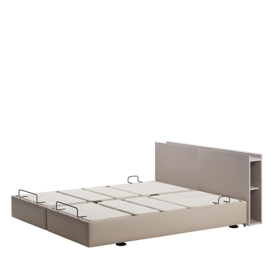 Argian 1800W Twin Motion Bed With USB King GYM Grey Matt