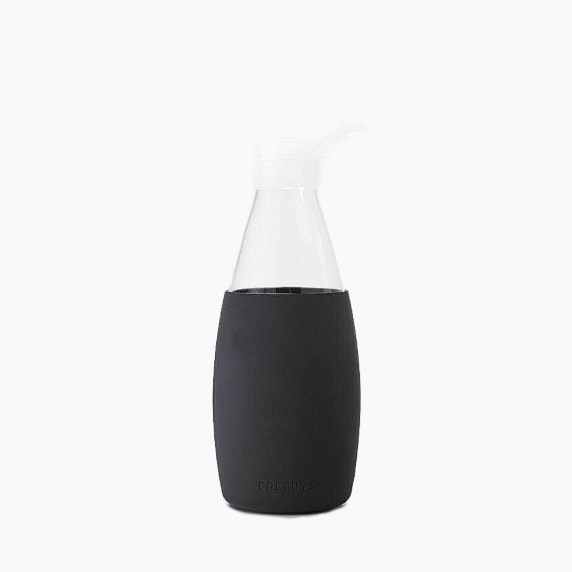 Classic Glass Water Bottle Black 750ml