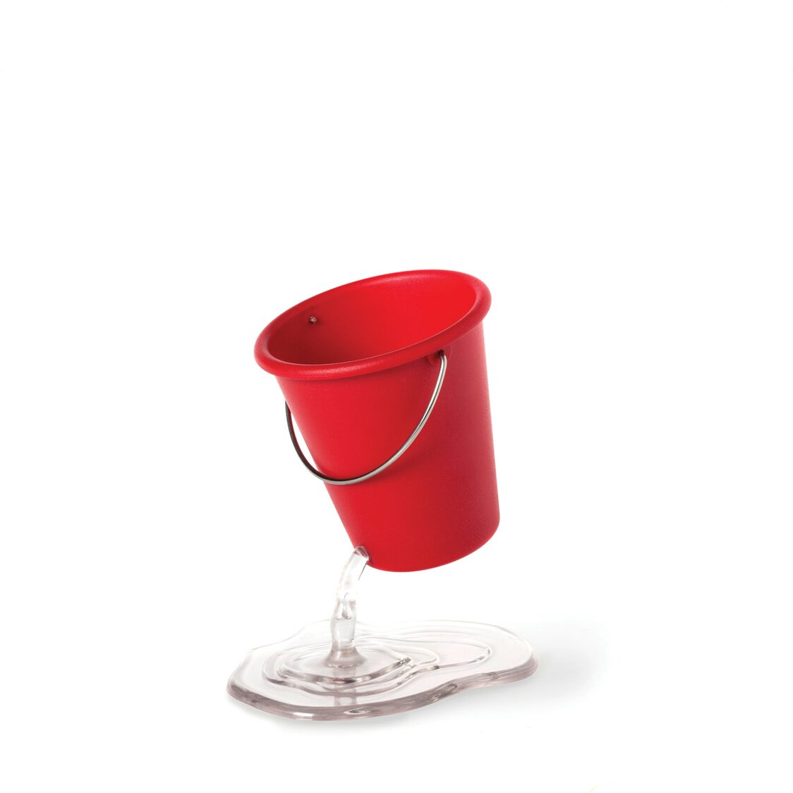 Desk Bucket Floating Container Red