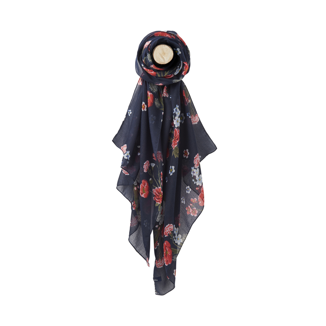 Joules Printed Scarf Navyfloral