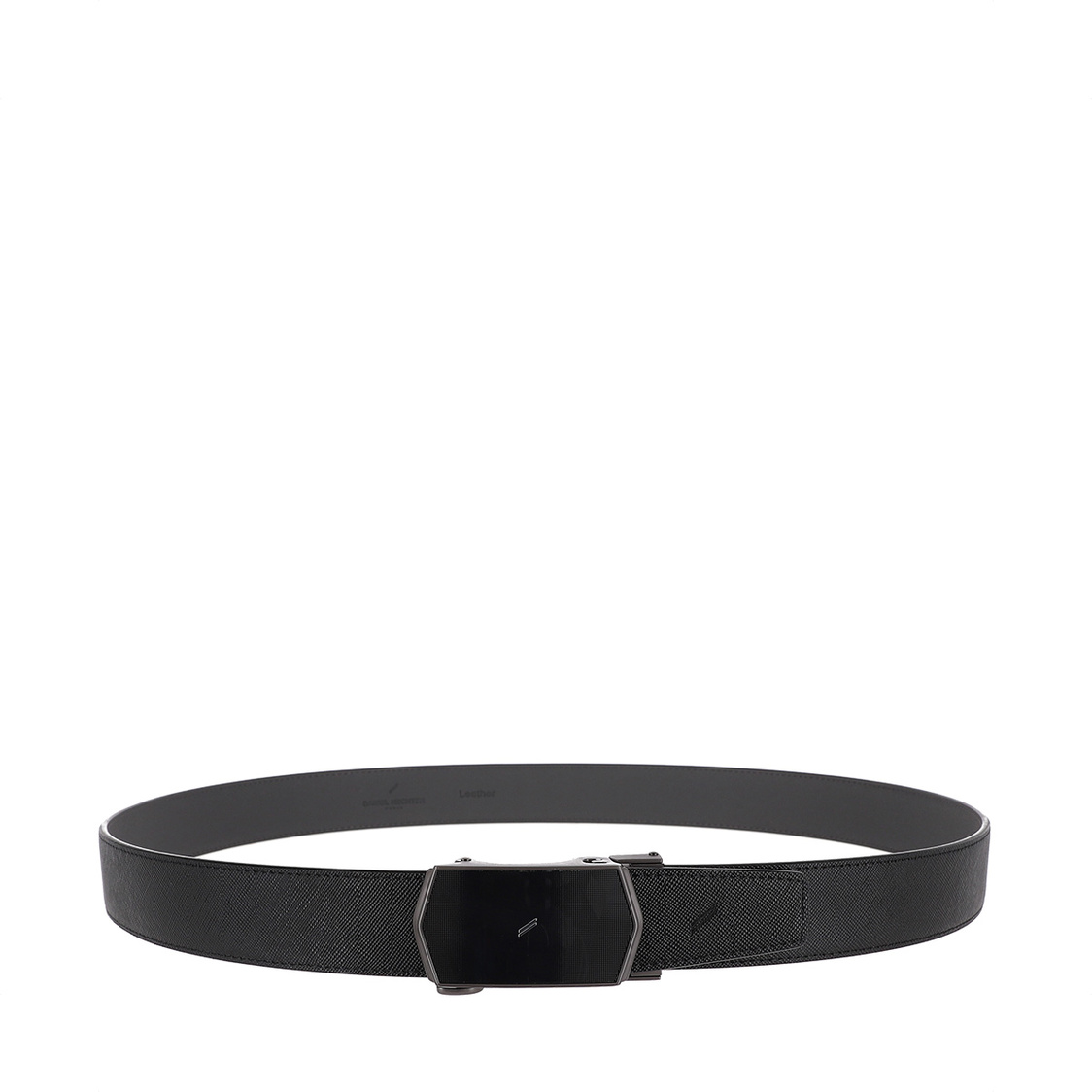 2-way Leather Auto Lock Belt 115cm in Black