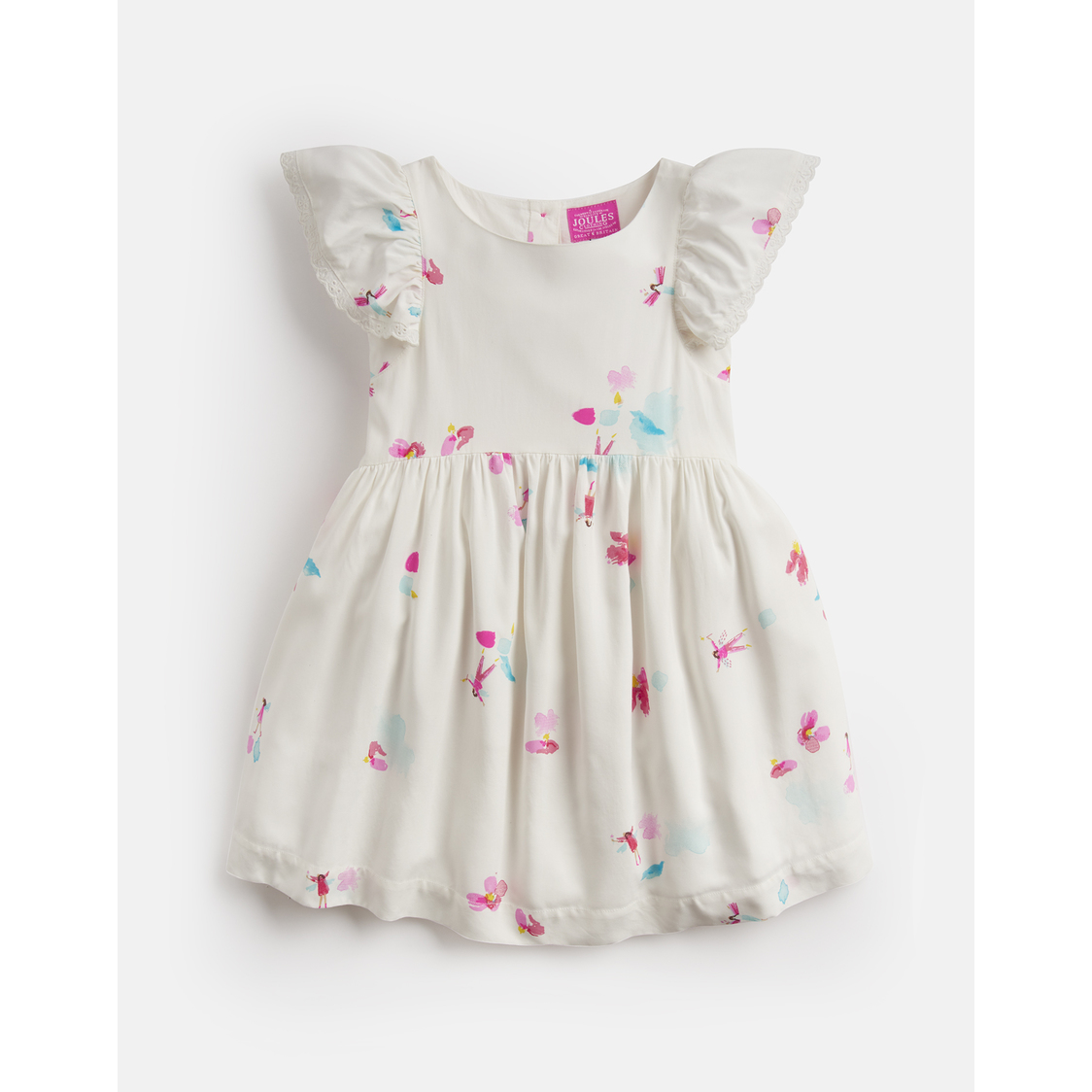 Emeline Woven Printed Dress 1-6yr White Fairy Floral