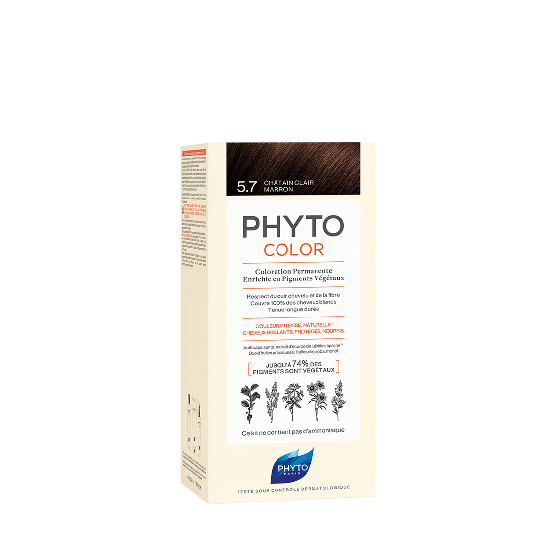 Phytocolor 57 Light Chestnut Brown Col Cr 50ml  Lot 50ml PH10022A99926