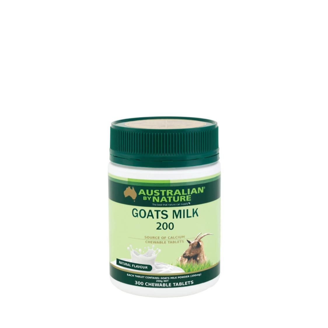 Australian By Nature Goats Milk 200mg Natural Flavour 300 Tablets