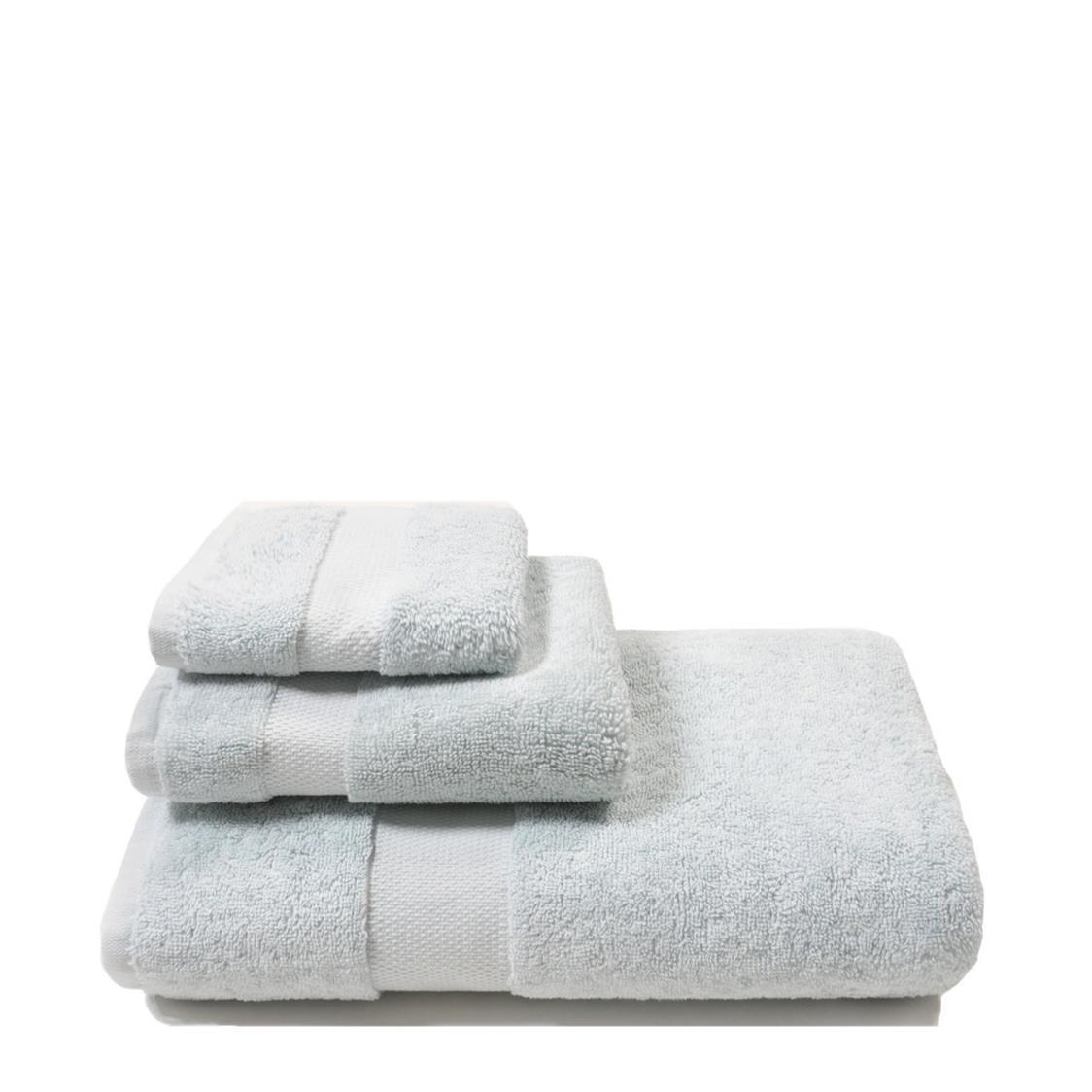 Organic Combed Bath Towel Blue