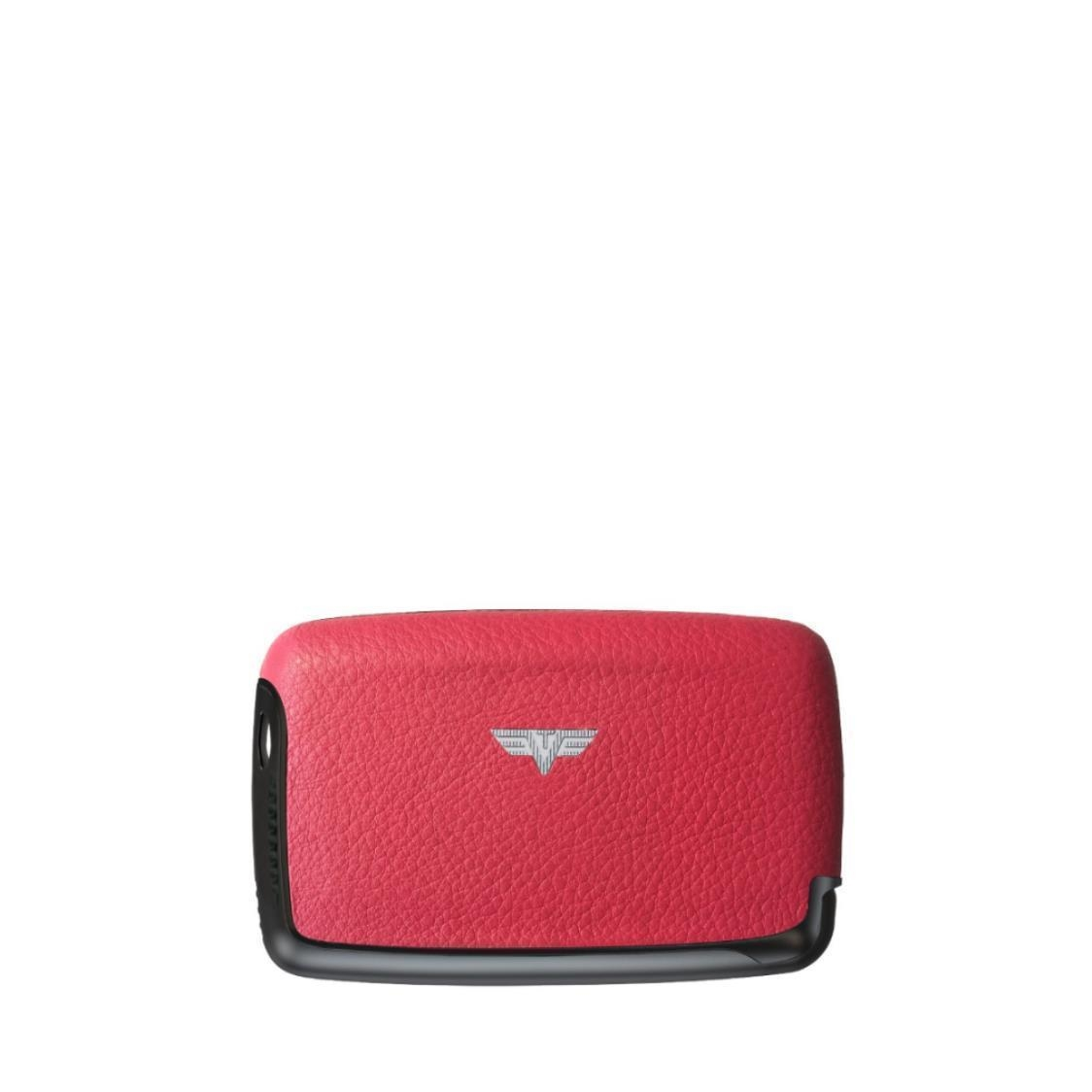 Card Case Nappa Rubin Red CPebble Tassel