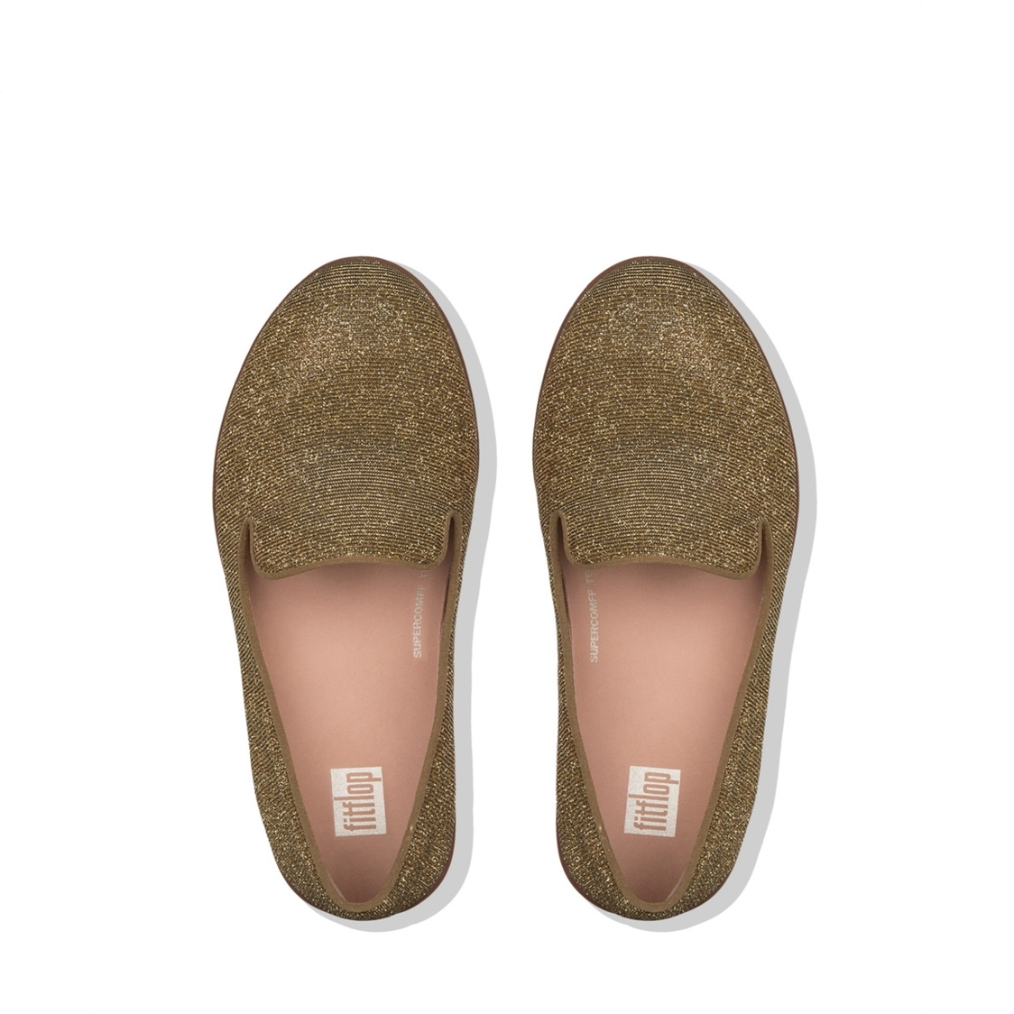 Audrey Glitzy Loafers Artisan Gold