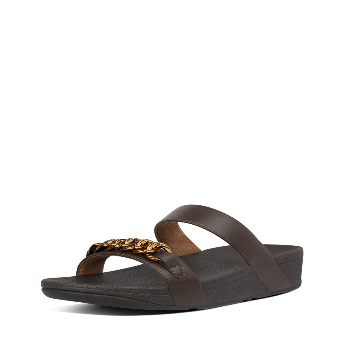 Fitflop Lottie Chain Slides Chocolate Brown