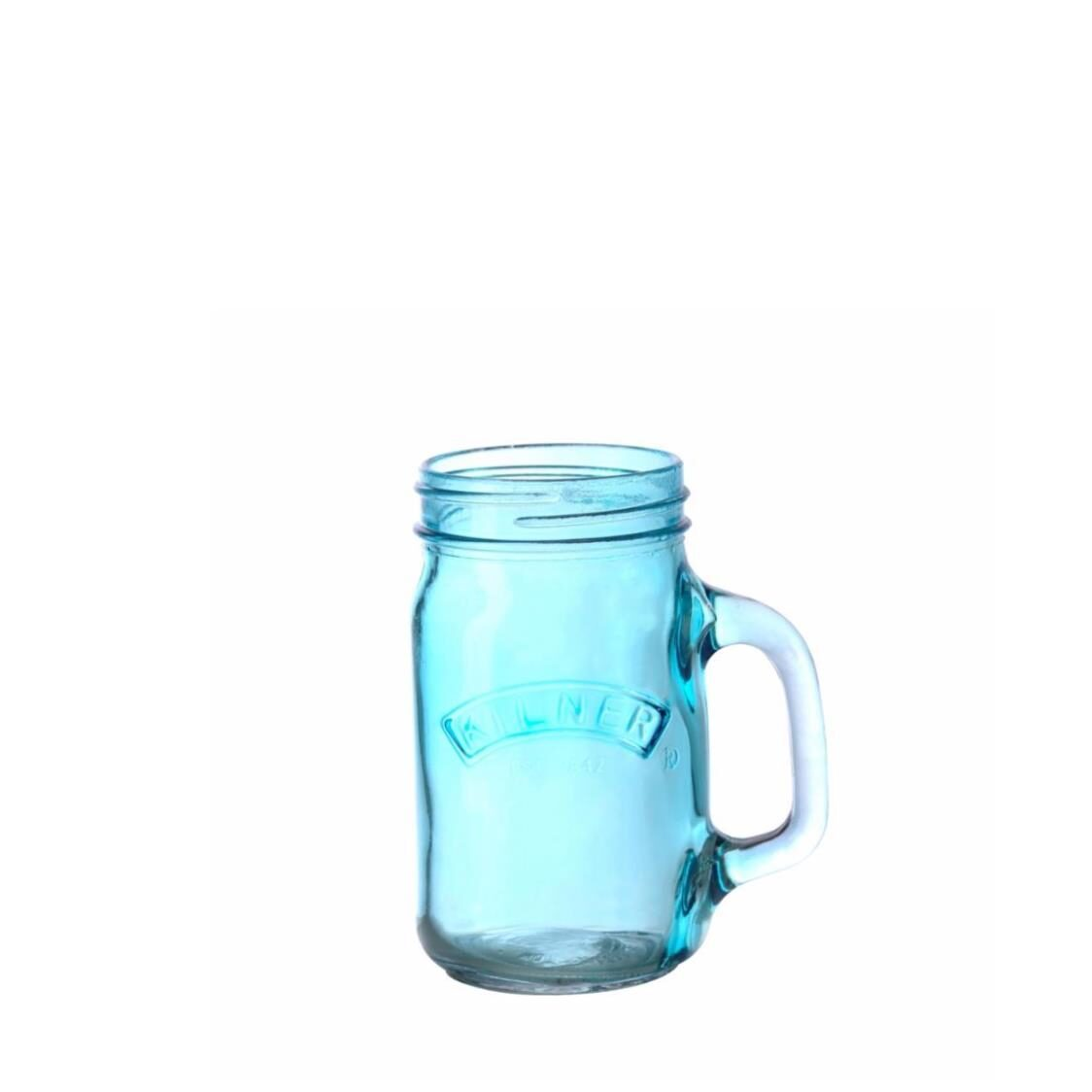 Handled Jar Blue