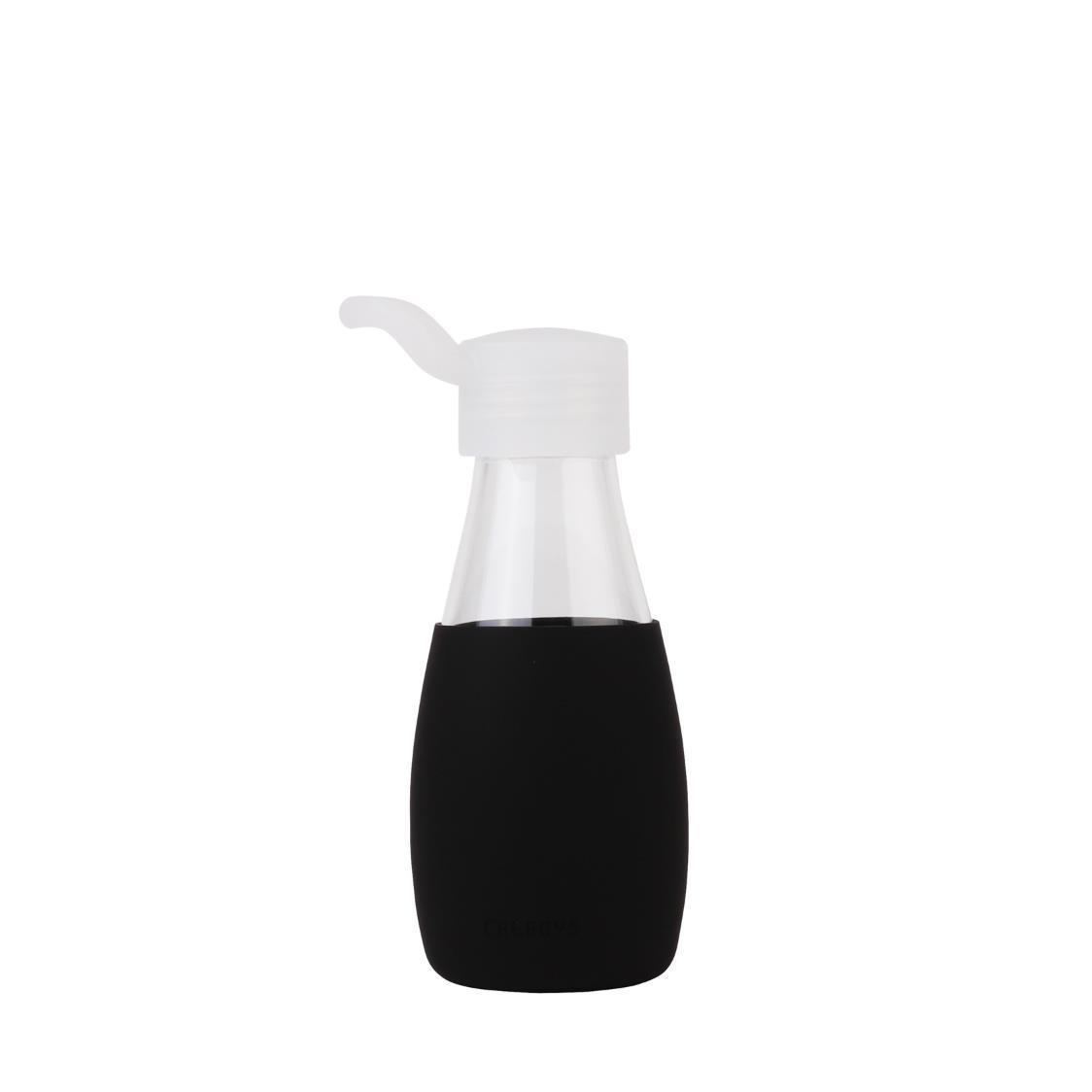 Classic Glass Water Bottle Black 250ml