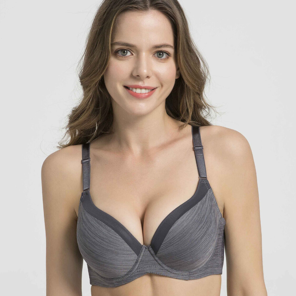 Strata Lace Full Cup Bra S10-29471GRY Grey