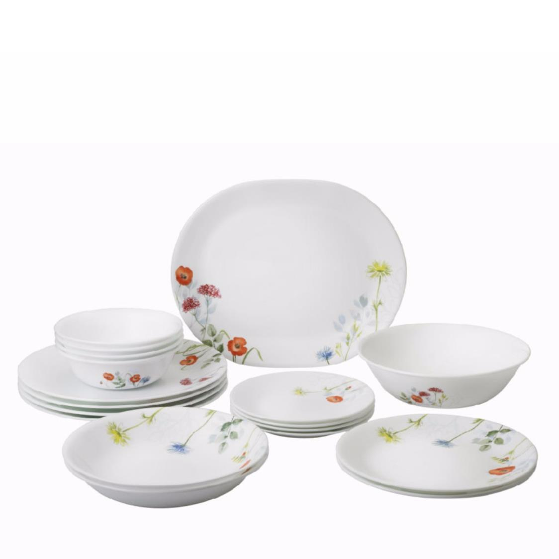 18pc Dinner Set Daisy Field