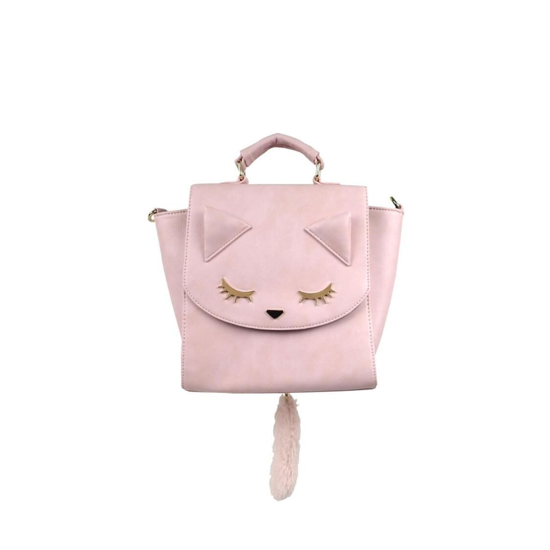 3 Ways Handbag with Tail Pink