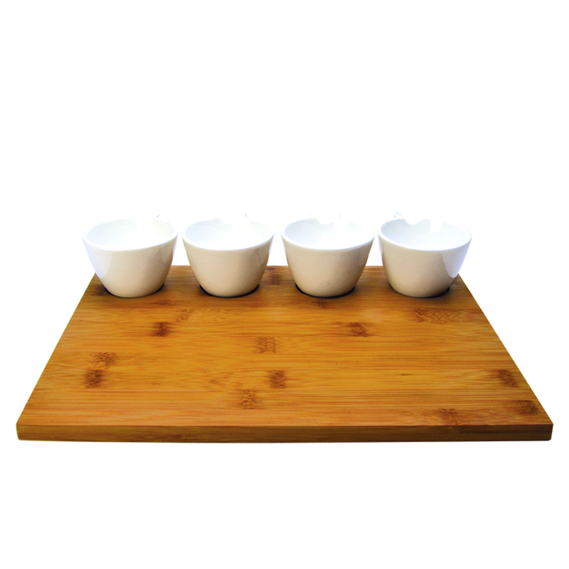 Timpani 4 Condiment Bowls On Bamboo Tray SR-49