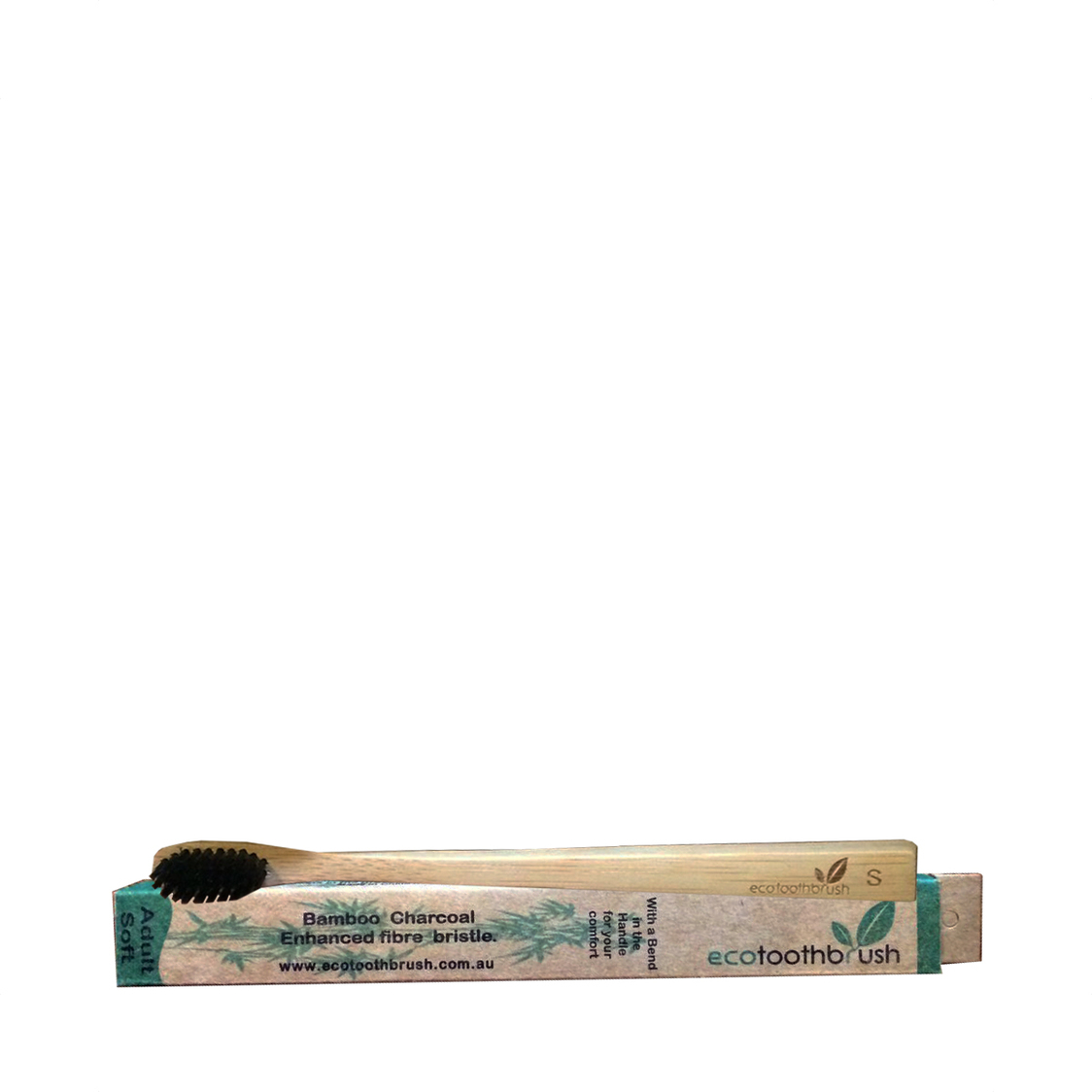 Charcoal Enhanced Bamboo Toothbrush Adult Soft
