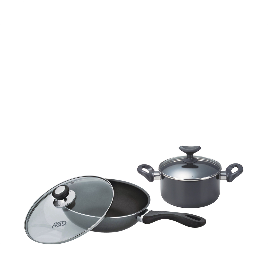28cm Non-Stick Stirfry Pan with Glass Cover HP8328GL  24cm Non-Stick Stockpot with Glass Cover HP8724