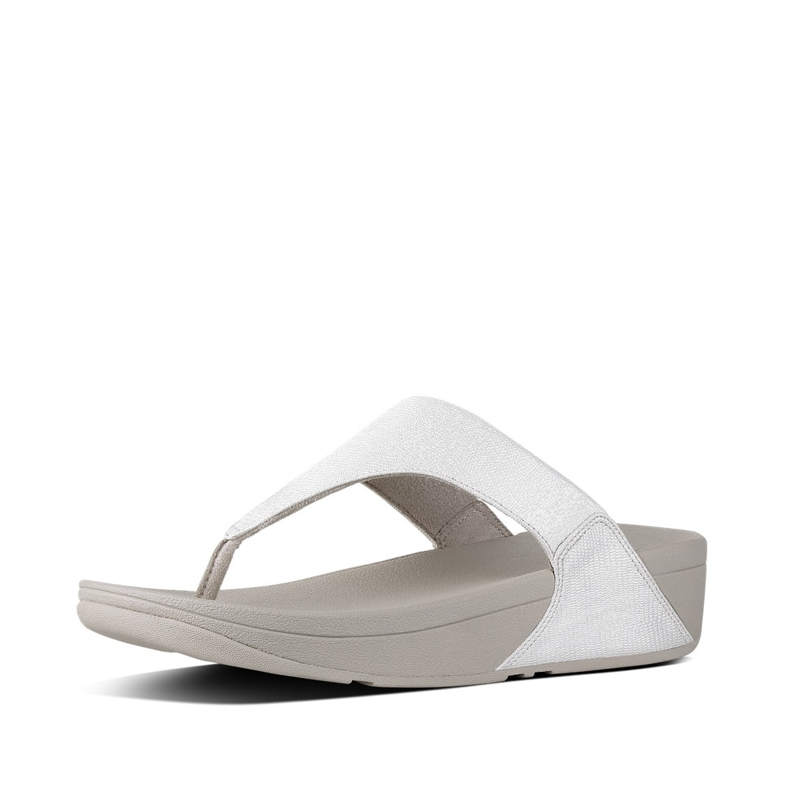 FitFlop LULU TOE-THONG SHIMMER - T-bar sandals - silver shimmer