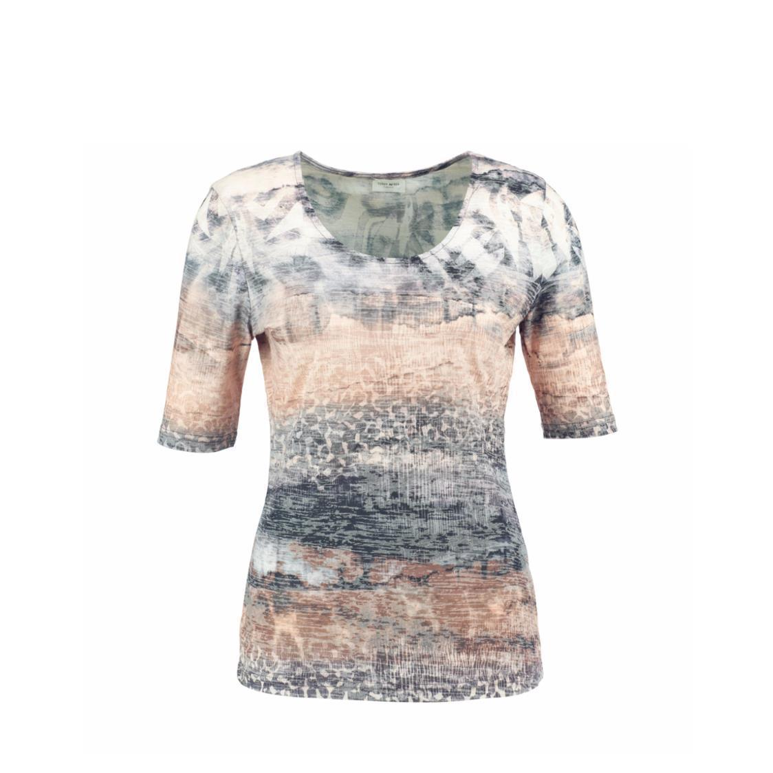 Printed Burnt-out Top