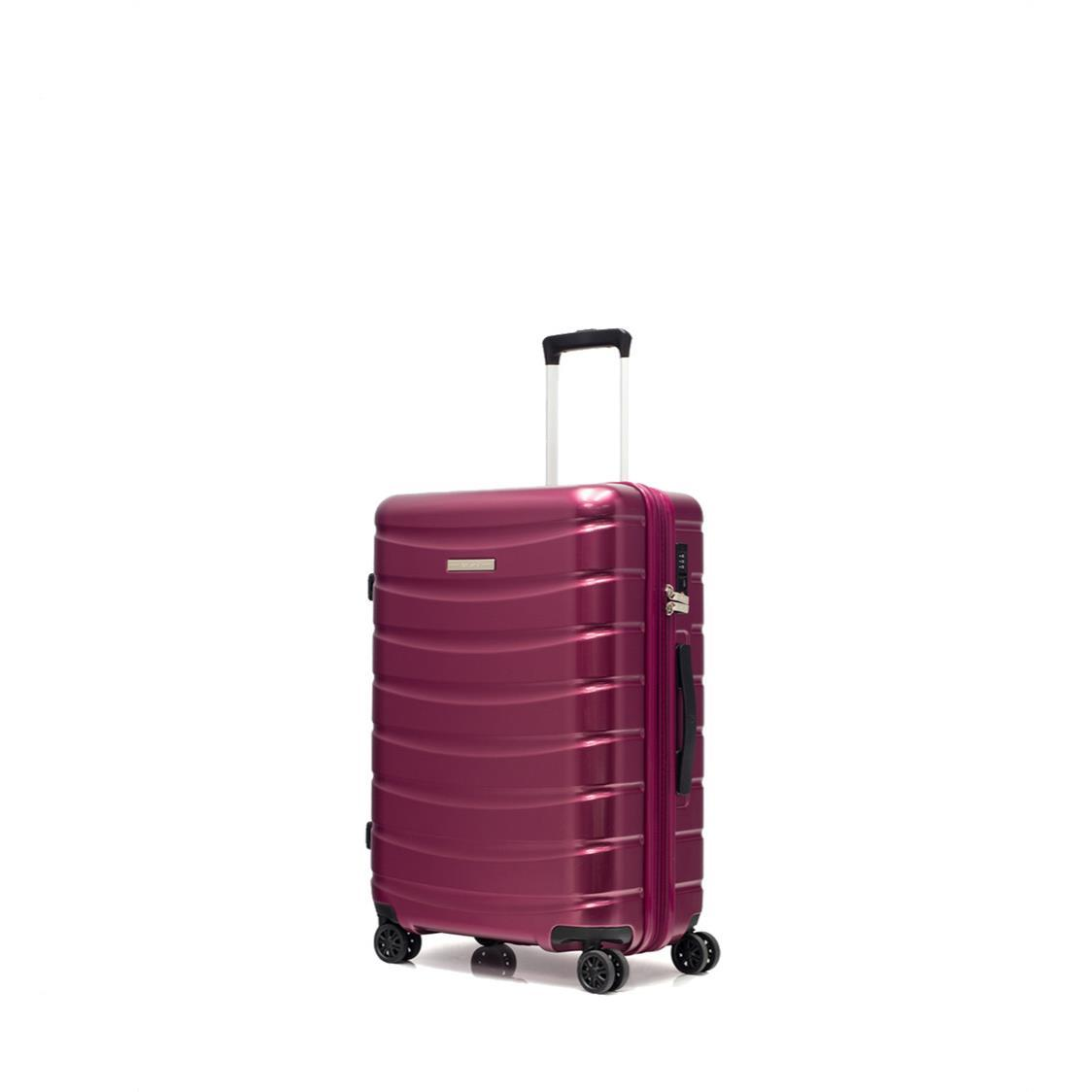 Palermo 8 Wheel Expandable Polycarbonate Hard Spinner Maroon