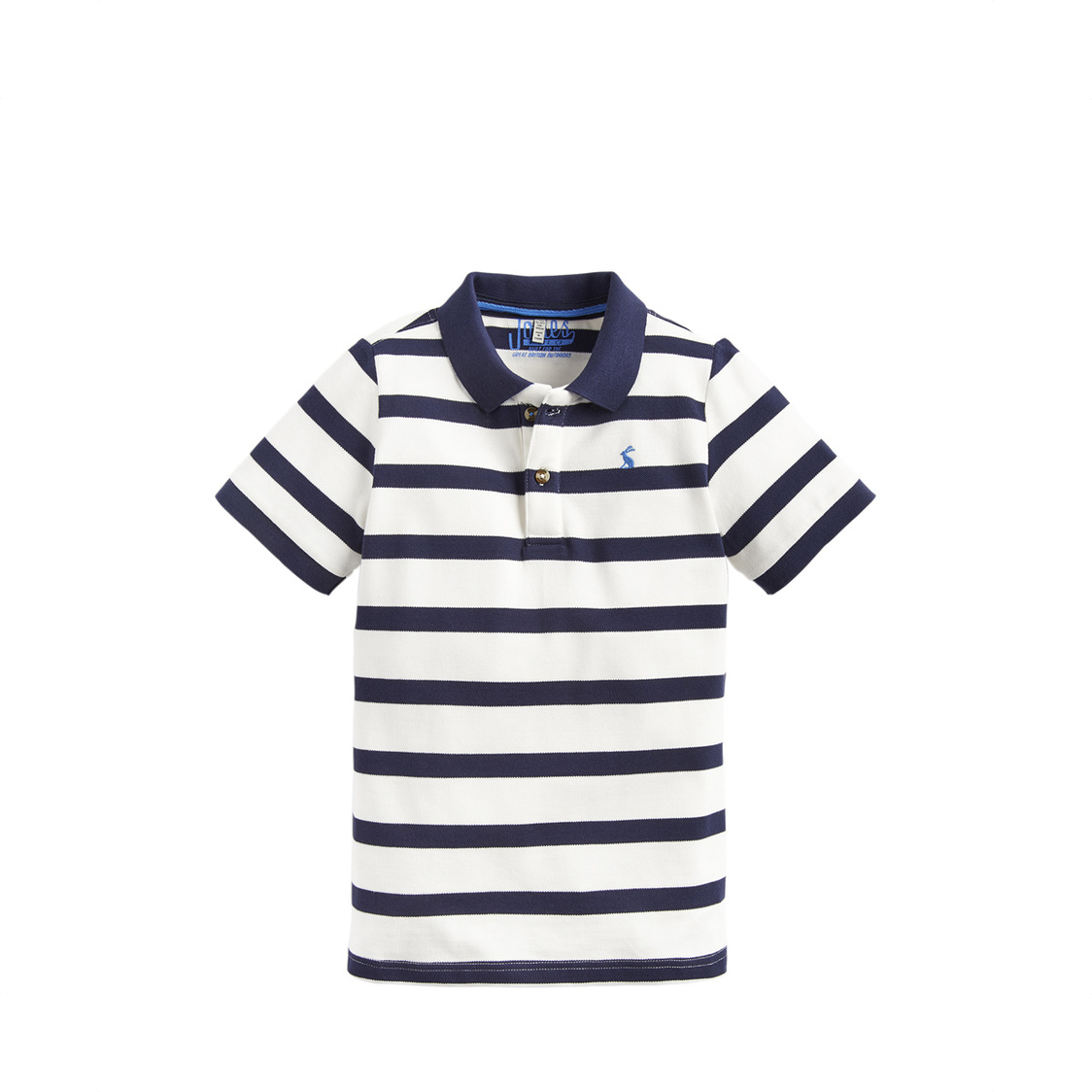 Filbert Boys Stripe Polo Shirt 3-12 Yr Cream Navy Stripe