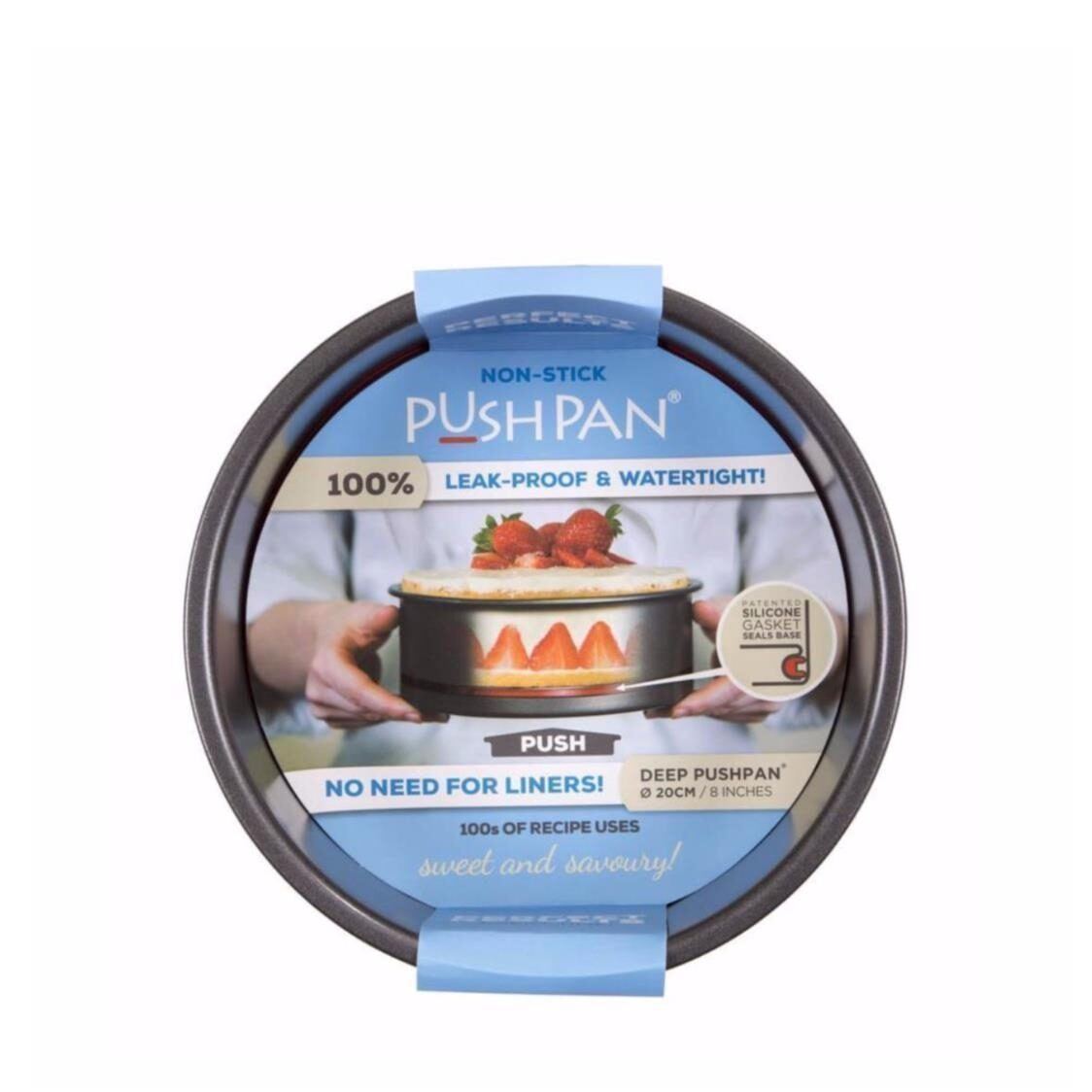 Non-stick Push Pan Deep Round Tin 20cm
