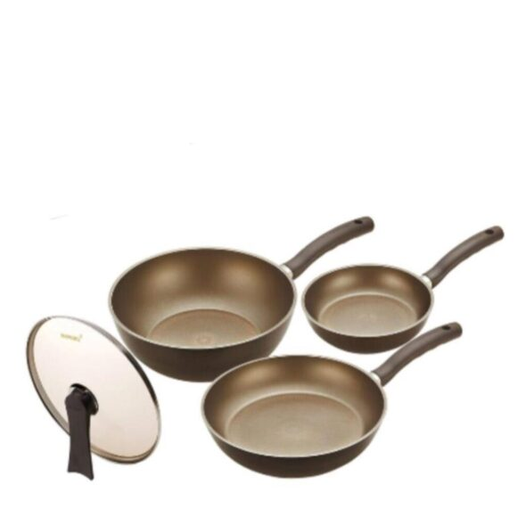 Happy Call IH Gold 4pc Die Cast Cookware Set 3900-0174