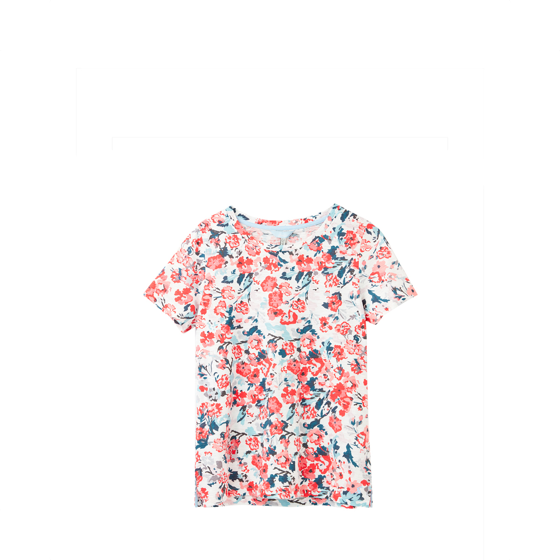 Tom Joule Carley Classic Crew Neck Top Cream Floral