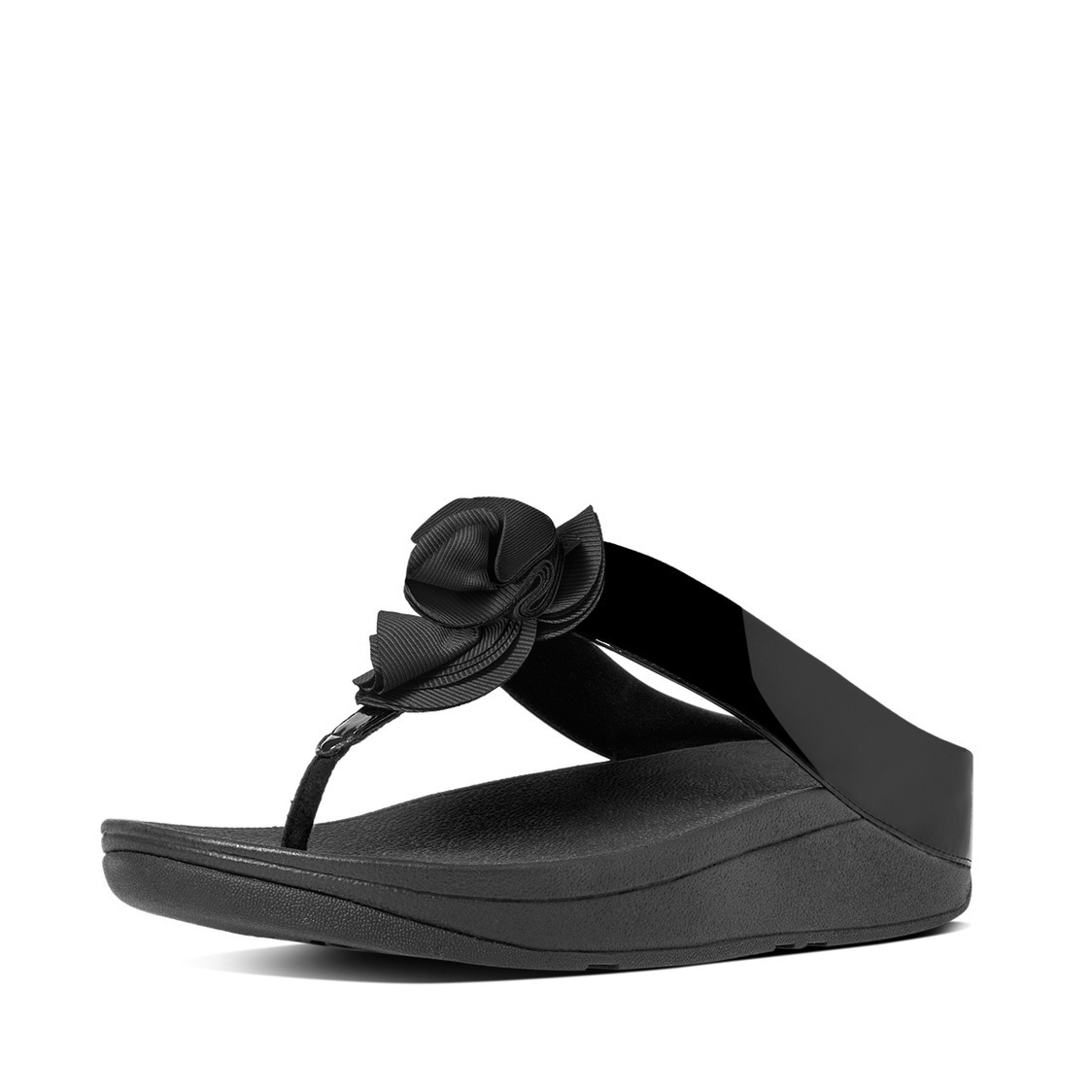 Florrie Patent Toe-Thong Sandals