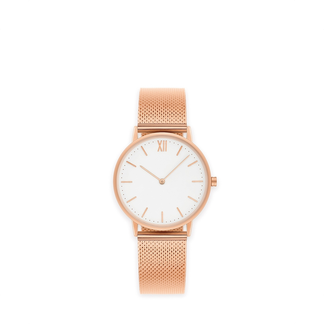 Signature 36 Rose Gold - Stainless Steel Mesh