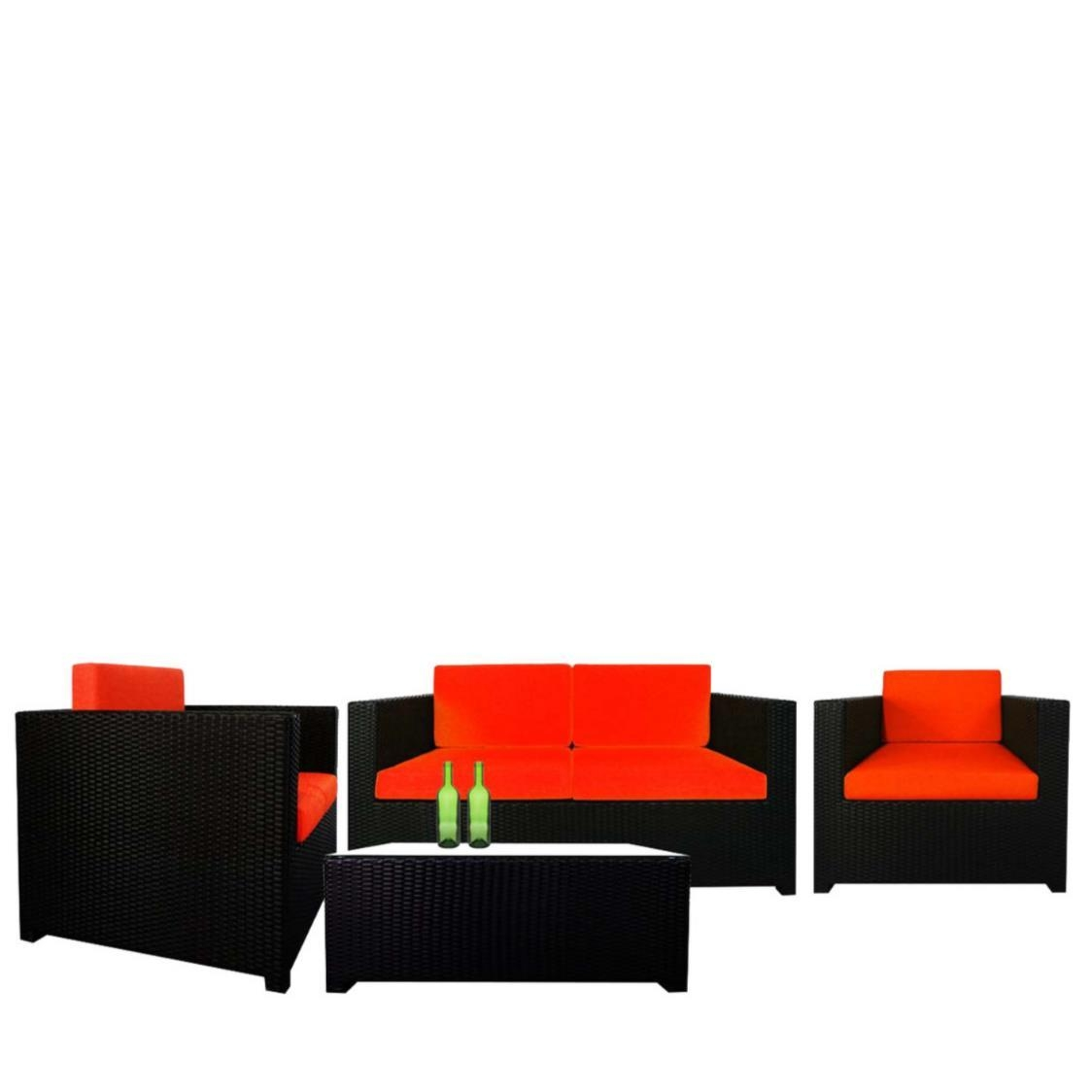 Fiesta Sofa Set II Orange Cushions