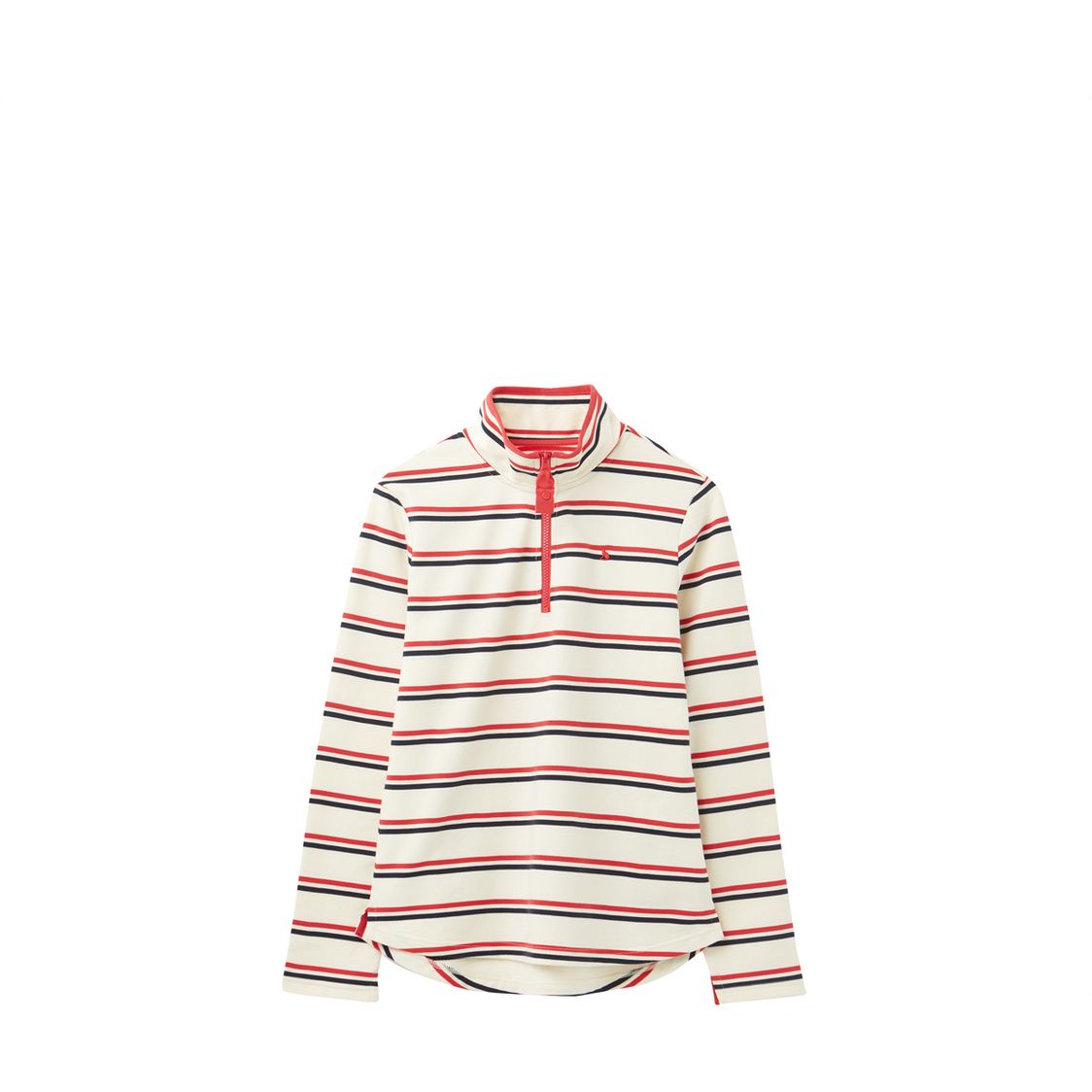 Tom Joule Fairdale Sweatshirt With Zip Neck Cream Red Blue Stripe