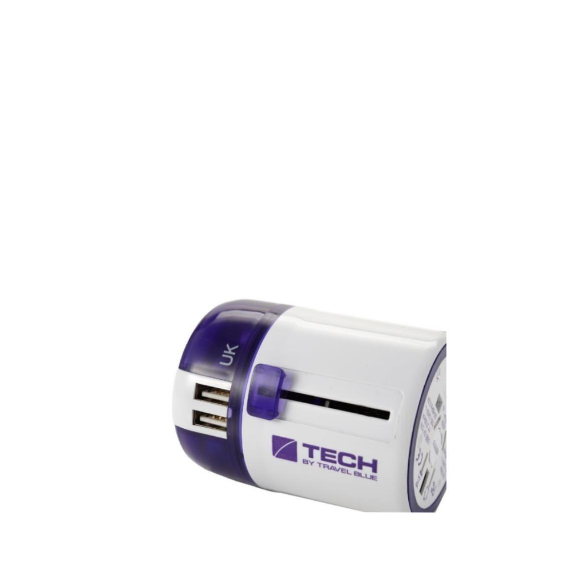 272 2 USB  Worldwide Sliding Adaptor Purple