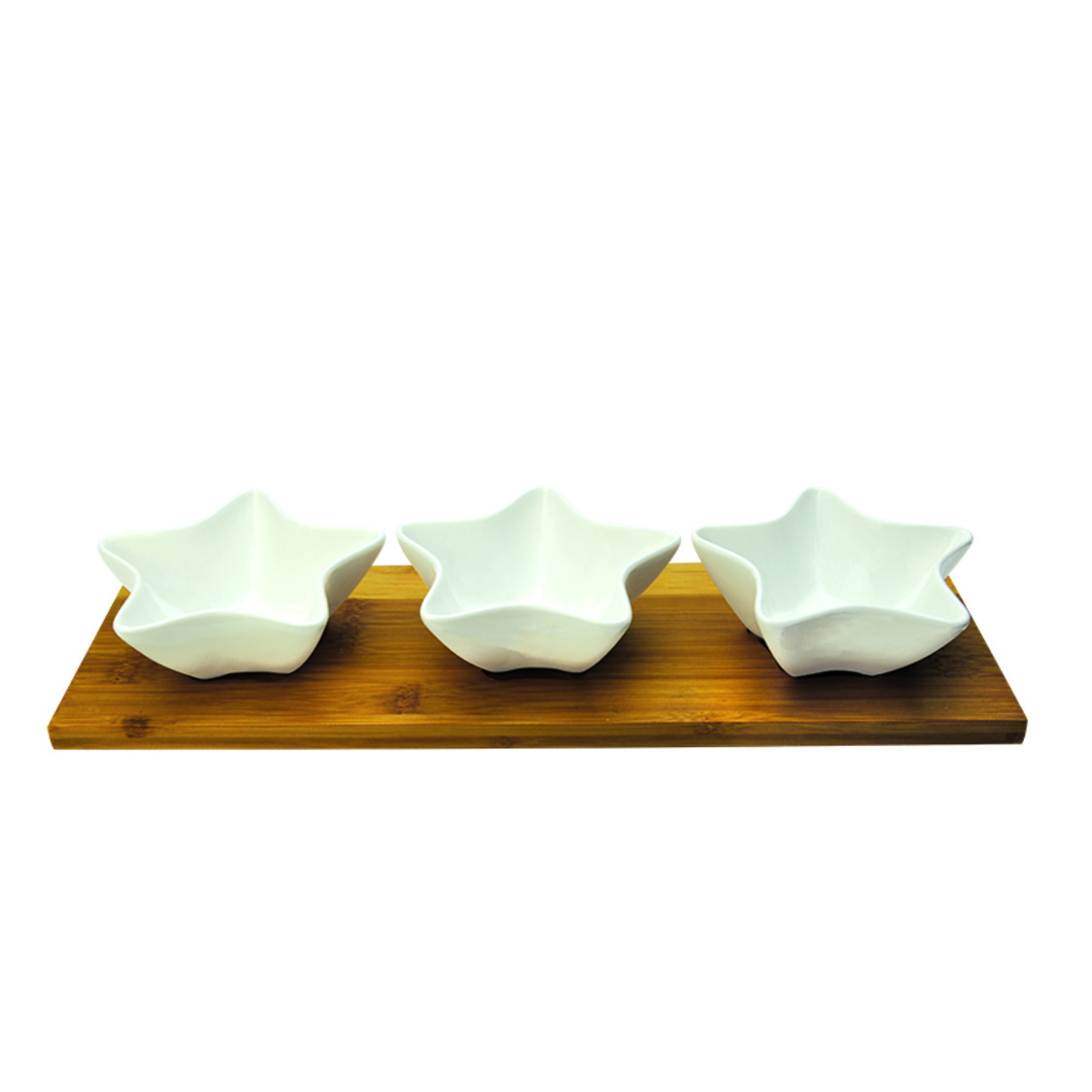 Twinkle 3 Condiment Bowls On Bamboo Base SR-59