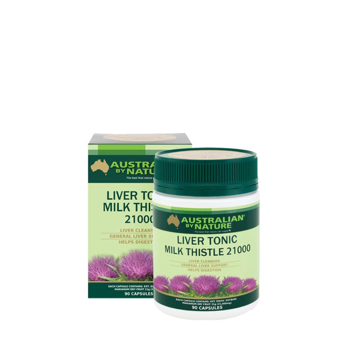Australian By Nature Liver Tonic Milk Thistle 21000mg 90 Capsules