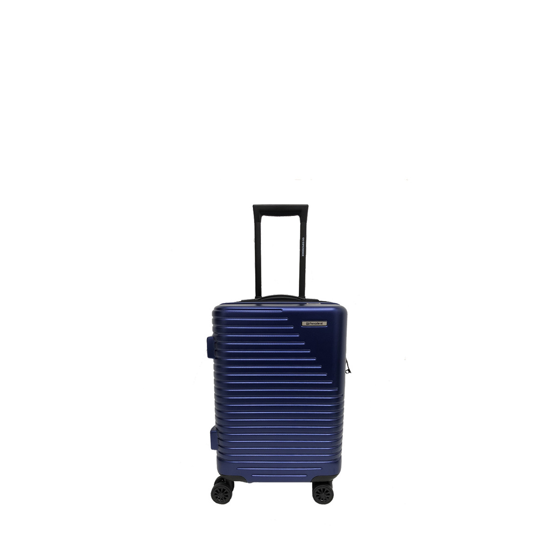 8 Wheel Expandable Smart Polycarbonate Hard Spinner with TSA  Double Layer Anti-Theft Zipper Midnight Blue P5285